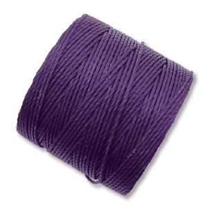 S-Lon, Superlon Tex 210, 0.5mm Bead Cord Purple