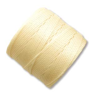 S-Lon, Superlon Tex 210, 0.5mm Bead Cord Pale Yellow