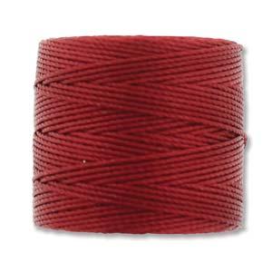 S-Lon, Superlon Tex 210, 0.5mm Bead Cord Red Hot