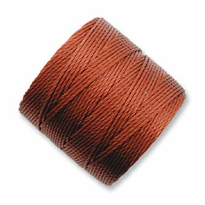 S-Lon, Superlon Tex 210, 0.5mm Bead Cord Sienna