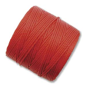 S-Lon, Superlon Tex 210, 0.5mm Bead Cord Shanghai Red