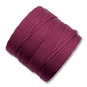 S-Lon, Superlon Tex 210, 0.5mm Bead Cord Wine