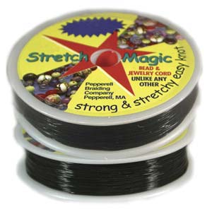 "Black Stretch Magic 1.0mm/0.39"" - 25m - 82ft roll"