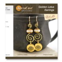 Tierracast Quick Kits - Golden Lotus Earrings