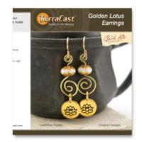 Tierracast Quick Kits - Golden Lotus Earrings