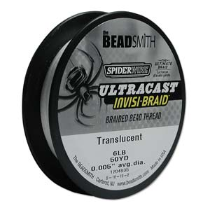 """Beadsmith - SpiderWire Ultracast Invisi-braid 6lb .005"""" - Translucent - 50yd (Label might differ)"""