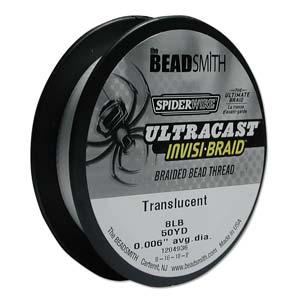 "Beadsmith - SpiderWire Ultracast Invisi-braid 8lb .006"" - Translucent - 50yd"