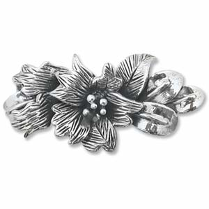 Sterling Silver FLower Slider Connector
