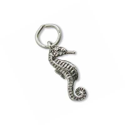Sterling Silver Charms - 17.8x7.3mm Seahorse Charm x1