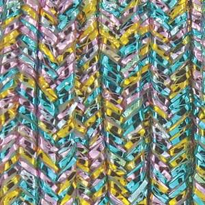 Soutache Braid Cord, Beadsmith 3mm - Textured Metallic Rainbow