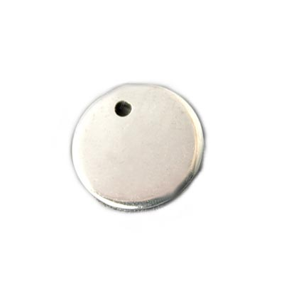 Stainless Steel Circle 10mm 18g Stamping Blank x1