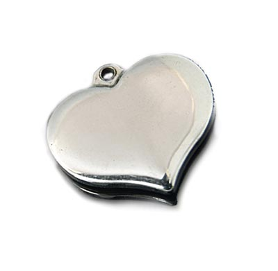 Stainless Steel Heart 17.5x16.5mm 16g Stamping Blank x1