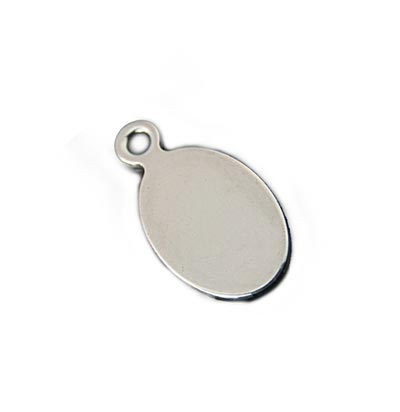 Stainless Steel Oval Tag 19.5x10mm 18g Stamping Blank x1