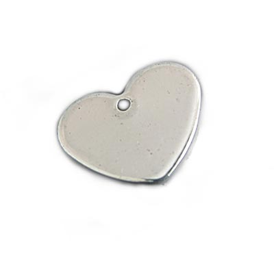 Stainless Steel Heart 13x11mm 18g Stamping Blank x1