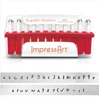 ImpressArt Scarlett's Signature 2.5mm Alphabet Lower Case Letter Metal Stamping Set