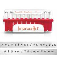 ImpressArt Scarlett's Signature 2.5mm Alphabet Upper Case Letter Metal Stamping Set