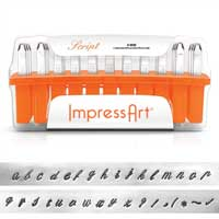 ImpressArt Script 4mm Alphabet Lower Case Letter Metal Stamping Set