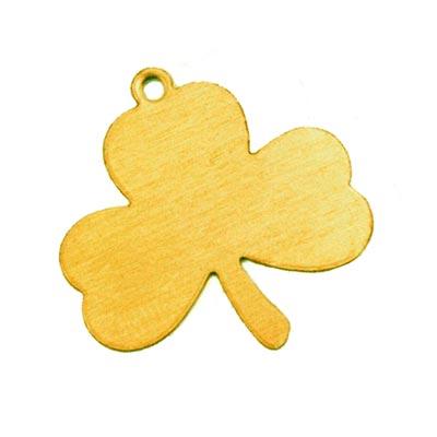 Brass Shamrock Lucky Leaf Clover 24g Stamping Blank 23x23mm