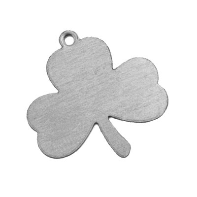 Nickel Silver Shamrock Lucky Leaf Clover 24g Stamping Blank 23x23mm