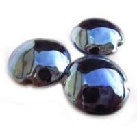 Shine  - 18mm Lentil Handmade Artisan Glass Lampwork Beads - By the Bead