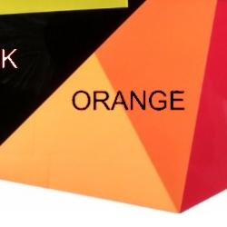 Shrink Plastic Sheet, Glossy, (A4) Orange