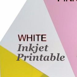 Shrink Plastic Sheet, Glossy, (A5) White (Printable)