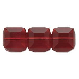Swarovski Crystal 6mm Cube Beads - Siam x1