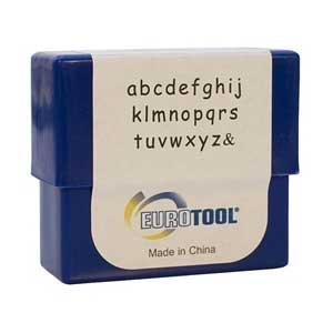Siena Alphabet Lower Case Letter 3mm Metal Stamping Set - Eurotool