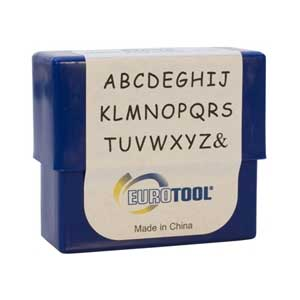 Siena Alphabet Upper Case Letter 3mm Metal Stamping Set - Eurotool