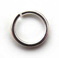 Silver Plated Jump Rings ~ 4mm x50