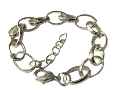 Silver Plated Bracelet with Parrot Clasp & Extender Chain