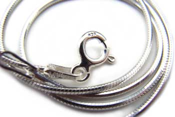 """Sterling Silver 1mm DC Square Snake Chain Necklace - 14"""" - 35cm"""