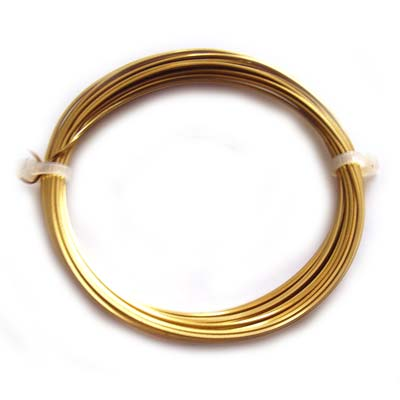 Square Brass Craft Wire 20g 0.80mm - 6 metres