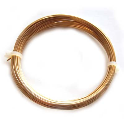 Square Champagne Colour Copper Craft Wire 20g 0.80mm - 6 metres