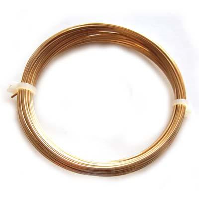 Square Champagne Colour Copper Craft Wire 20g 0.80mm - 6 metres