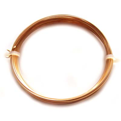 Square Gilt Plated Copper Craft Wire 20g 0.80mm - 6 metres