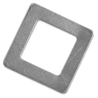 "Nickel Silver Square Washer 1 1/8"""" 29mm od 17.3mm id 20g Stamping Blank x1"