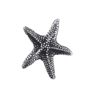 Sterling Silver Charms - 14.3x16.6mm Starfish Charm Pendant x1