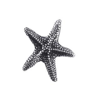 Sterling Silver Charms - 14.3x16.6mm Starfish Charm Pendant x1