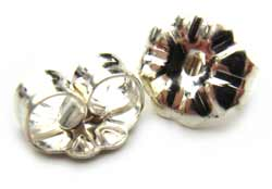 Sterling Silver Butterfly Earring backs 6.5mm Daisy x1pr