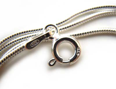 """Deadstocked - Fine Silver Plated 1mm Round Snake Chain Necklace - 22"""" - 56cm"""