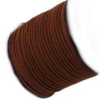 Faux Micro Suede Flat Cord 3mm - Mahogany Brown per metre