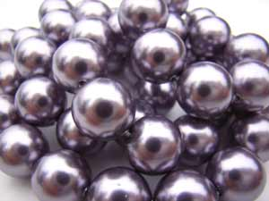 Swarovski Crystal Pearl Beads 6mm Mauve Pearls x10