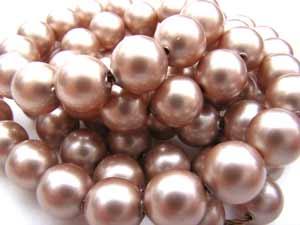 Swarovski Crystal Pearl Beads 10mm Powder Almond Pearls x1