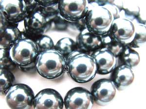 Swarovski Crystal Pearl Beads 6mm Tahitian Pearls x10