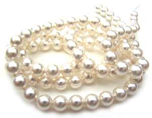 Swarovski Crystal Pearl Beads 6mm White Pearls x10