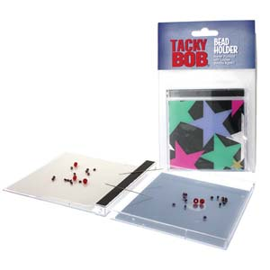 Beadsmith Tacky Bob Bead & Needle Holder, jewel case 3-7/8x3-7/8 inch, 10x9.5cm