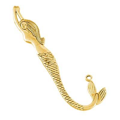 Bookmark for Beading - Mermaid 80mm Gold Tone