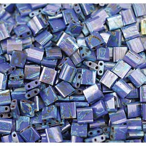 Miyuki Tila Bead 5mm Picasso Opaque Cobalt
