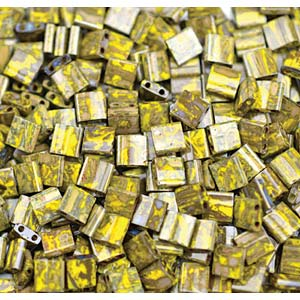 Miyuki Tila Bead 5mm Picasso Opaque Yellow